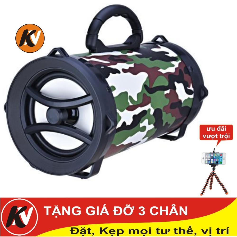 Combo Loa bluetooth xách tay XC002 Kim Nhung + Giá đỡ 3 chân bạch tuộc