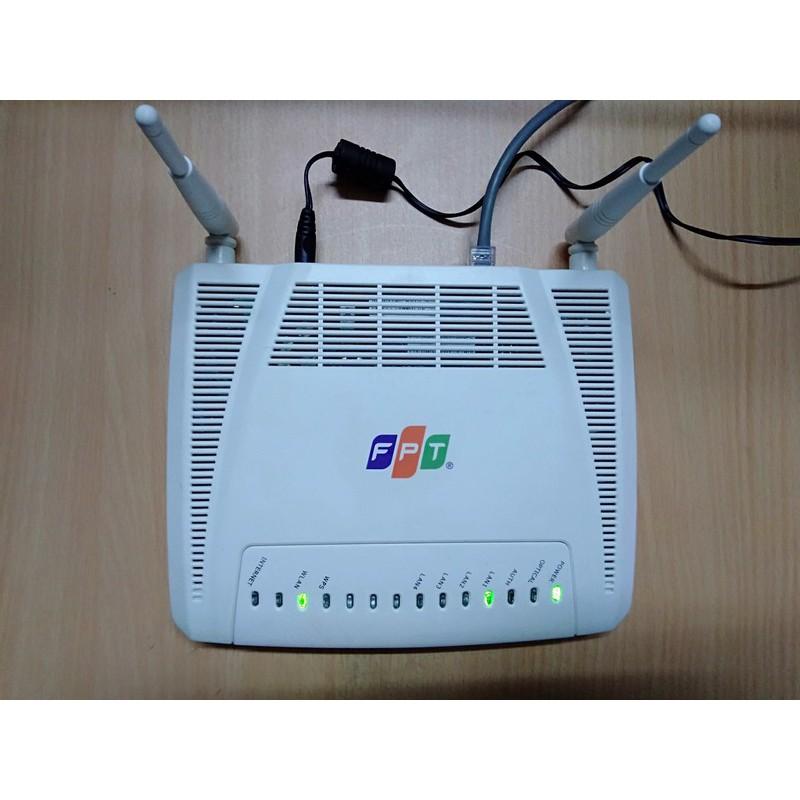 Modem Phát WIFI quang F.P.T G-93GR1 2 râu và 4 cổng LAN - Modem Chính Hãng (Cũ)