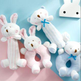 Sét 2 xúc xắc cầm tay gấu thỏ Hàn Quốc Goryeo Baby