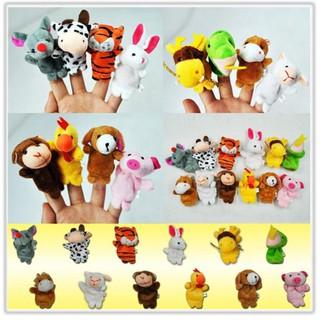 Bộ 12 con rồi ngón tay hình các con thú bằng lông nhung mềm kích thước 6.5cm cho bé thumbnail
