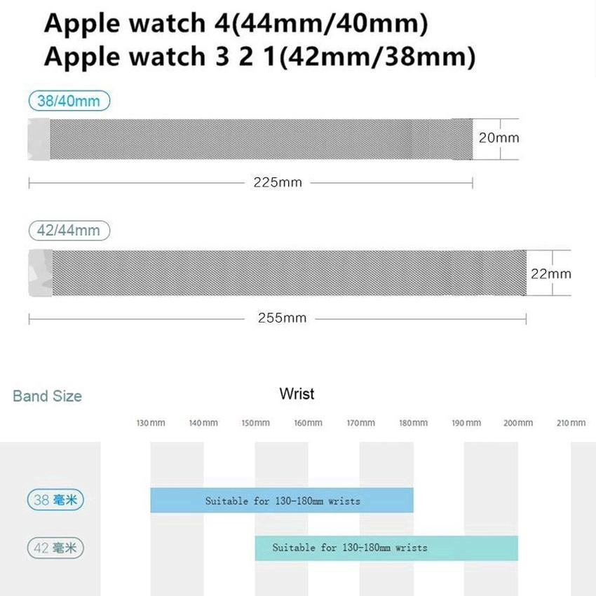 Dây Đeo Inox Milanese Cho Đồng Hồ Thông Minh Apple Watch Series 5 4 3 2 1
