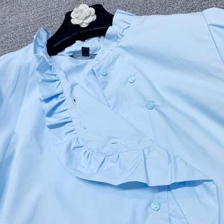 Xả 12.12 10.10 ⚡ 🍀 9.9 Áo sơ mi Zara xanh cổ bèo .. . 🔥 . .