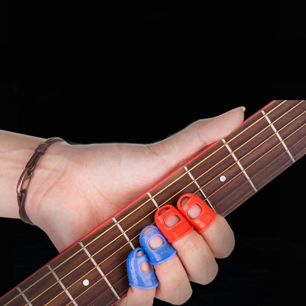 Bọc bảo vệ ngón tay bằng Silicon cho đàn Guitar/Violin - Bộ 5 cái