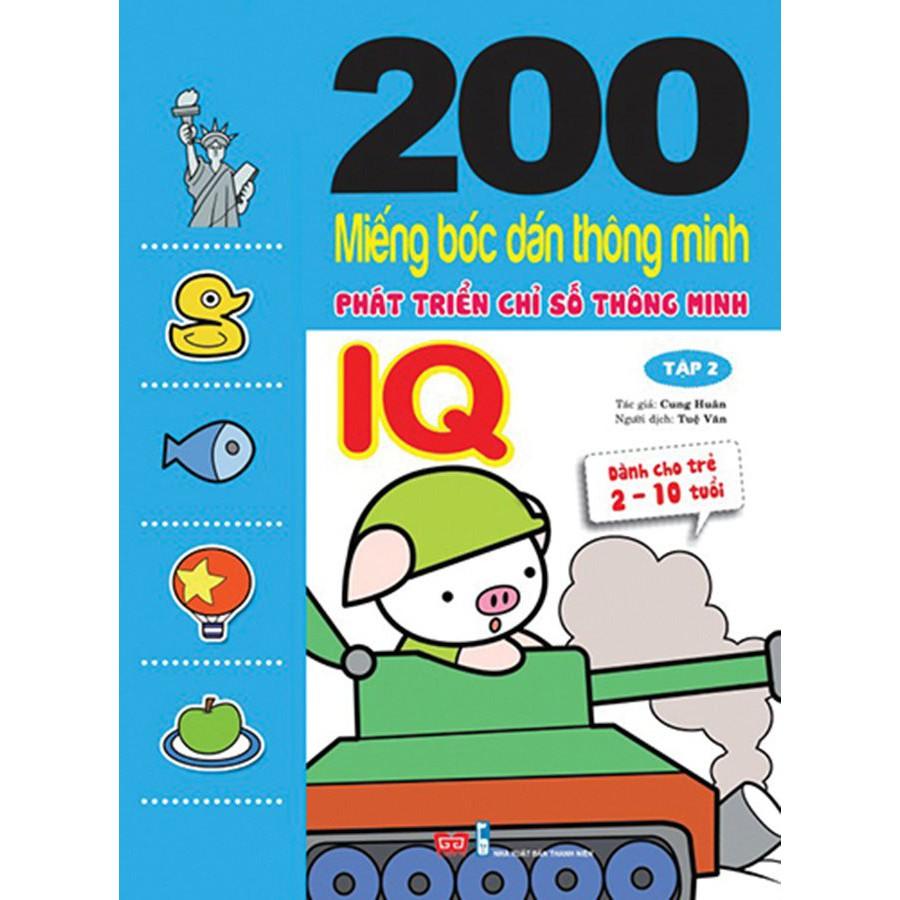 200 miếng bóc dán TM PT chỉ số TM IQ T2 (Dành cho trẻ 2-10 tuổi)