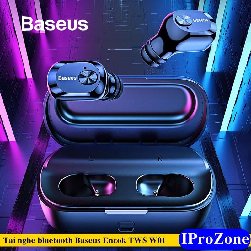 [Baseus ] Tai nghe bluetooth TWS có dock chính hãng Baseus Encok True Wireless Earphones W01