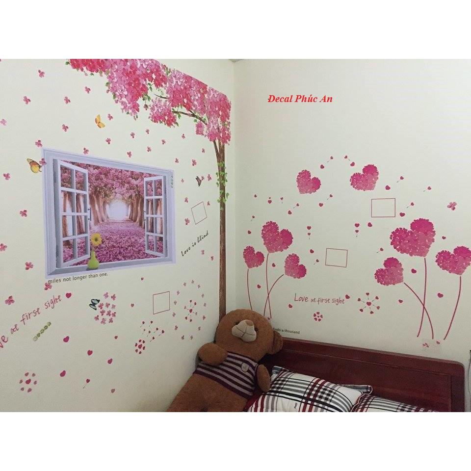 Decal dán tường bộ ghép cửa sổ cây đào hồng và trái tim tình yêu - 10029098 , 138808971 , 322_138808971 , 170000 , Decal-dan-tuong-bo-ghep-cua-so-cay-dao-hong-va-trai-tim-tinh-yeu-322_138808971 , shopee.vn , Decal dán tường bộ ghép cửa sổ cây đào hồng và trái tim tình yêu