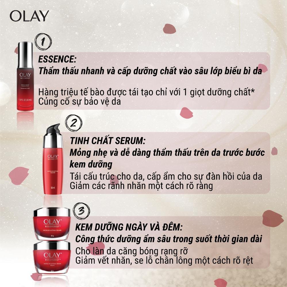 Bộ 2 sản phẩm Olay Regenerist ngăn lão hóa: Kem dưỡng ngày 50G & tinh chất vi dưỡng