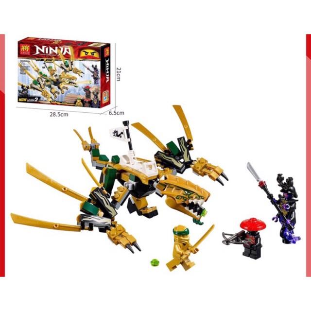 [Nhập mã TOYOCT giảm 10% tối đa 15K đơn từ 50K]Lego xếp hình Ninja Go Rồng vàng chiến đấu