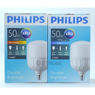 Bóng PHILIPS LED Bulb trụ 50W E27 - [HÀNG CHÍNH HÃNG] - Tiết kiệm điện, chất lượng ánh sáng cao thumbnail
