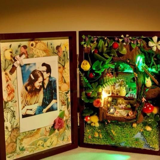 Hộp nhà búp bê làm quà lưu niệm dễ thương cho người bạn hoài niệm
