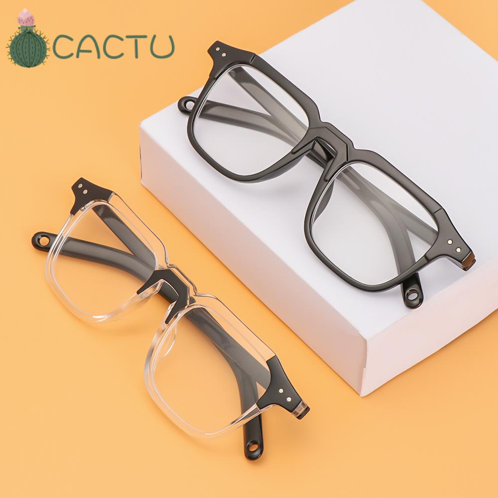 🌵CACTU🌵 Unisex Optical Eyewear Classic Vision Care Myopia Glasses Office Computer Goggles Fashion Square Frame Vintage Eyeglasses/Multicolor