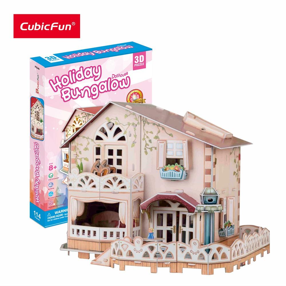 [ĐỒ CHƠI+TRƯNG BÀY] Mô hình lắp ráp 3D Cubic Fun Biệt thự nghỉ dưỡng P634h