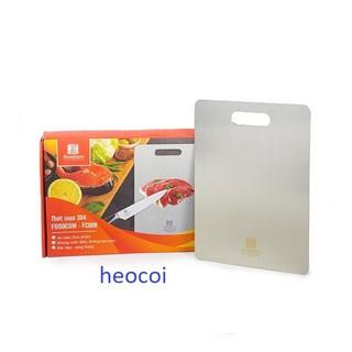 Yêu Thích[Foodcom xuất Nhật] Thớt inox 304 cao cấp, 33cmx23cmx2mm nặng 1.2kg, Full box, logo khắc lazer, trọn đời không hoen gỉ