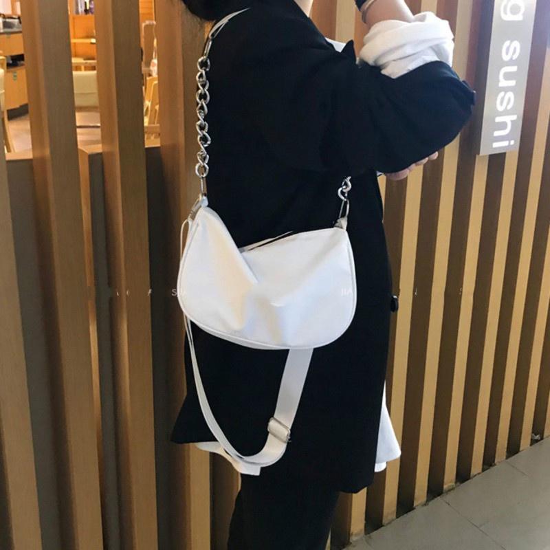 Túi Đeo Vai Phối Dây Xích Phong Cách Hàn Quốc 19d021