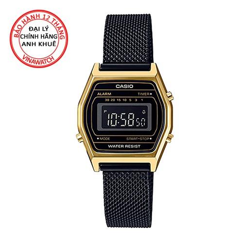 Đồng hồ Nữ Casio dây kim loại điện tử LA690WEMB-1BDF - Chính hãng Casio Anh Khuê