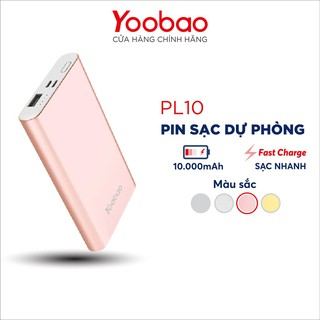 Sạc dự phòng Yoobao Polymer 10000mAh PL10 - Hàng chính hãng