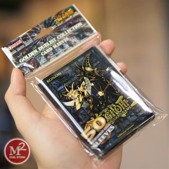 Bọc thẻ bài yugioh Golden Duelist Sleeve do Konami sản xuất - Hàng chính hãng USA VTool Set