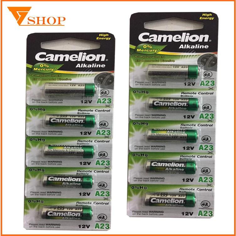 Combo 10 viên pin A23 Alkaline Camelion, pin cửa cuốn, pin chuông cửa 12V