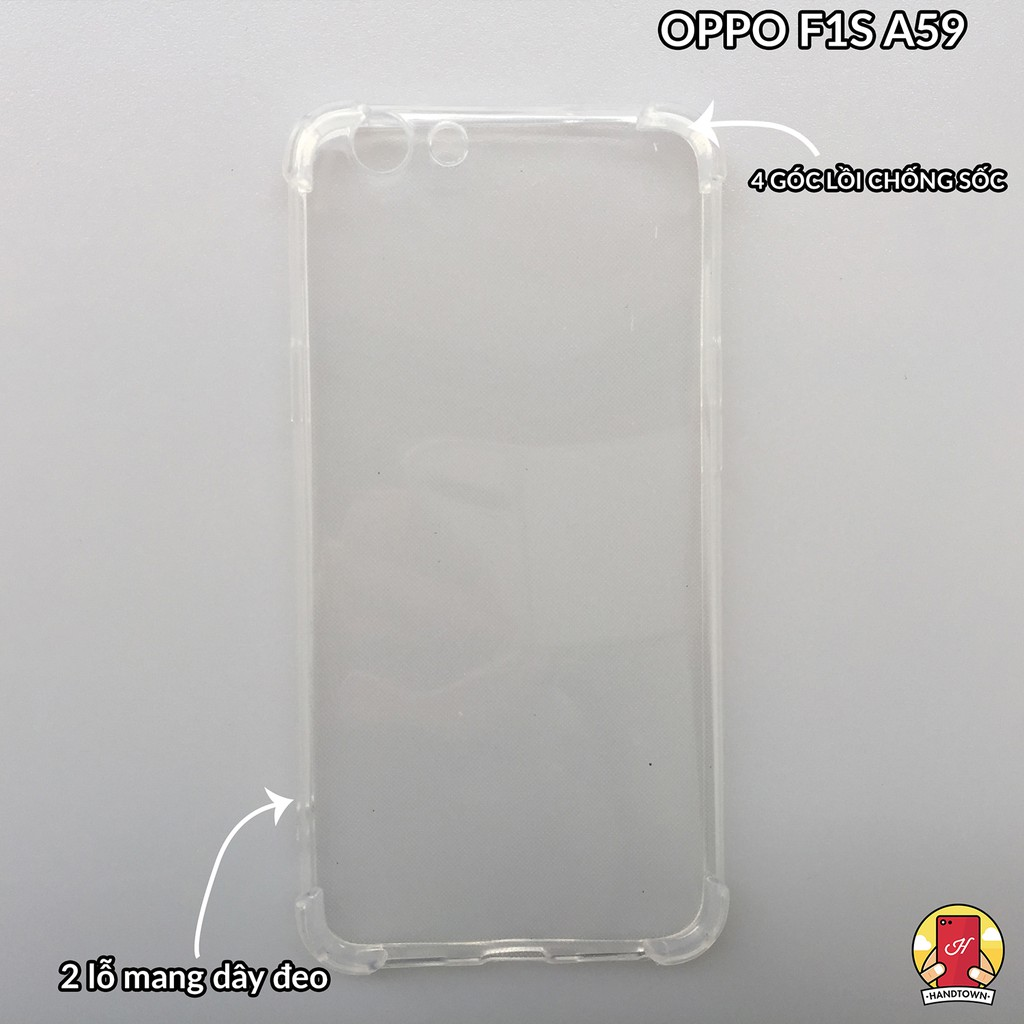 Ốp oppo F1S(A59) silicon trong suốt chống sốc góc cạnh