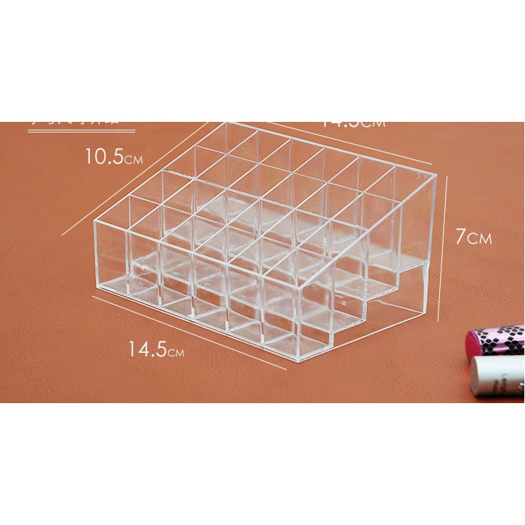 Khay đựng son 24 ô nhựa mica siêu bền trong suốt