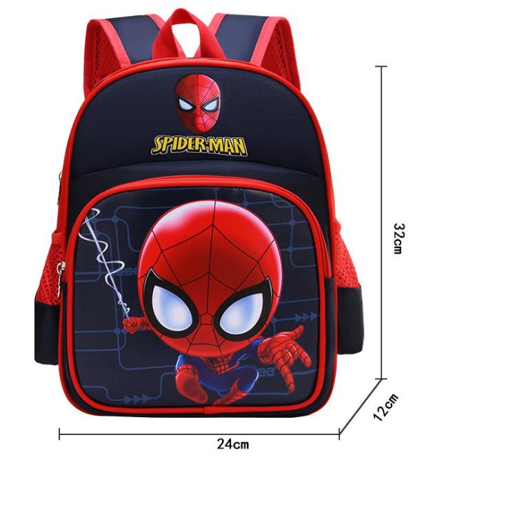 Balo trẻ em in hình người nhện đỏ cho bé trai mẫu giáo