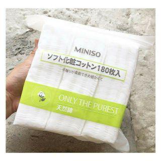 [RẺ VÔ ĐỊCH]Bông Tẩy Trang MINISO Nhật Bản Túi 180 Miếng