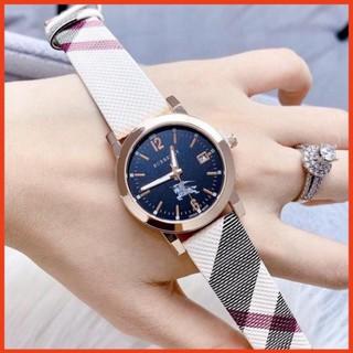 Đồng hồ nữ Burberry dây da mềm, họa tiết cực xinh - Bảo hành 12 tháng (Đồng hồ burberry 260) thumbnail