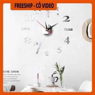 Đồng hồ  BH 1 THÁNG  Đồng hồ dán tường phù hợp với không gian văn phòng, ở nhà, thiết kế thông minh, sáng tạo 6971