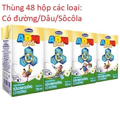 Sữa tiệt trùng Vinamilk ADM Gold có đường/ Dâu/ Sôcôla 110ml