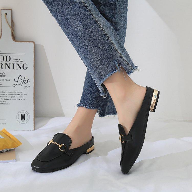Giày mules mũi vuông thời trang cho nữ