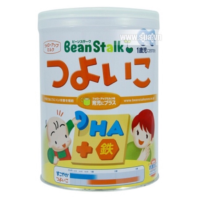 Sữa Beanstalk Tsuyoiko cho bé từ 9 tháng đến 3 tuổi lon 820g (xách tay)