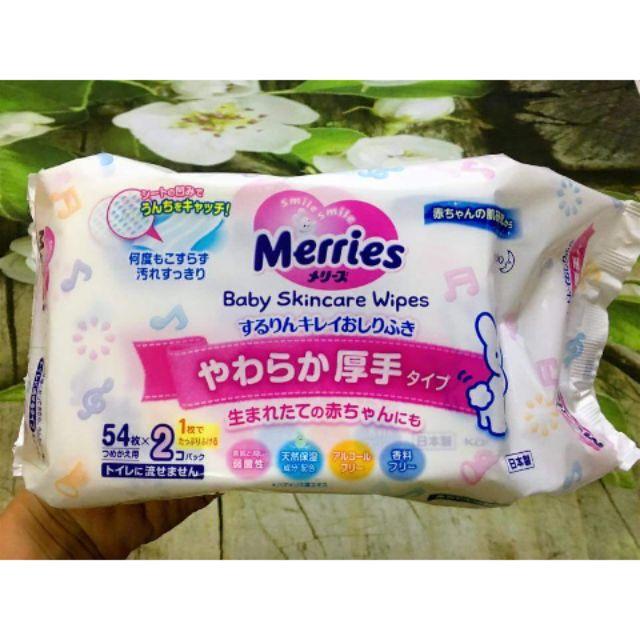 Khăn Giấy ướt Merries Nhật Bản Giảm 61