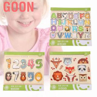 Goon New Baby Jigsaw Puzzles Educational Wooden Number/ Graph Puzzle Early Learning Kids Toys L