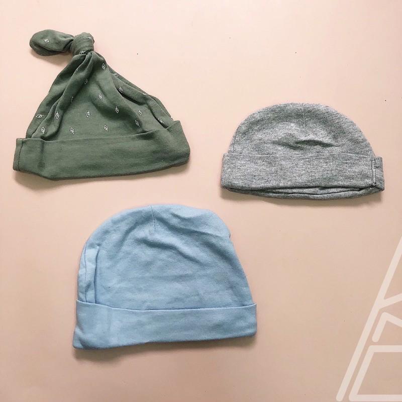 Mũ cotton sơ sinh thắt nút chóp mũ/không thắt nút chót (loại đẹp)