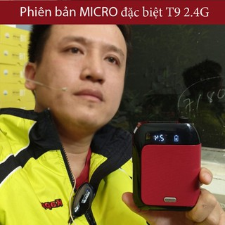 ( ĐẶC BIỆT ) Máy trợ giảng Aporo T9 2.4G phiên bản micro cài ve áo Pro