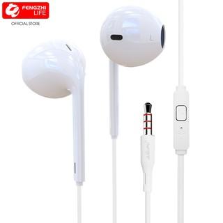 Tai nghe nhét tai in ear jack đầu cấm 3.5, dây dài của tai nghe có dây 120cm, mic đàm thoai BH 12 tháng FENGZHI LIFE K1 thumbnail