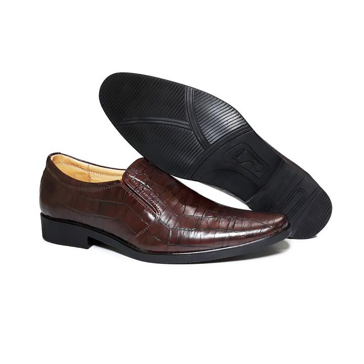 Giày Tây Nam Công Sở Happyshoes Da Bò Thật Vân Cá Sấu - HS22