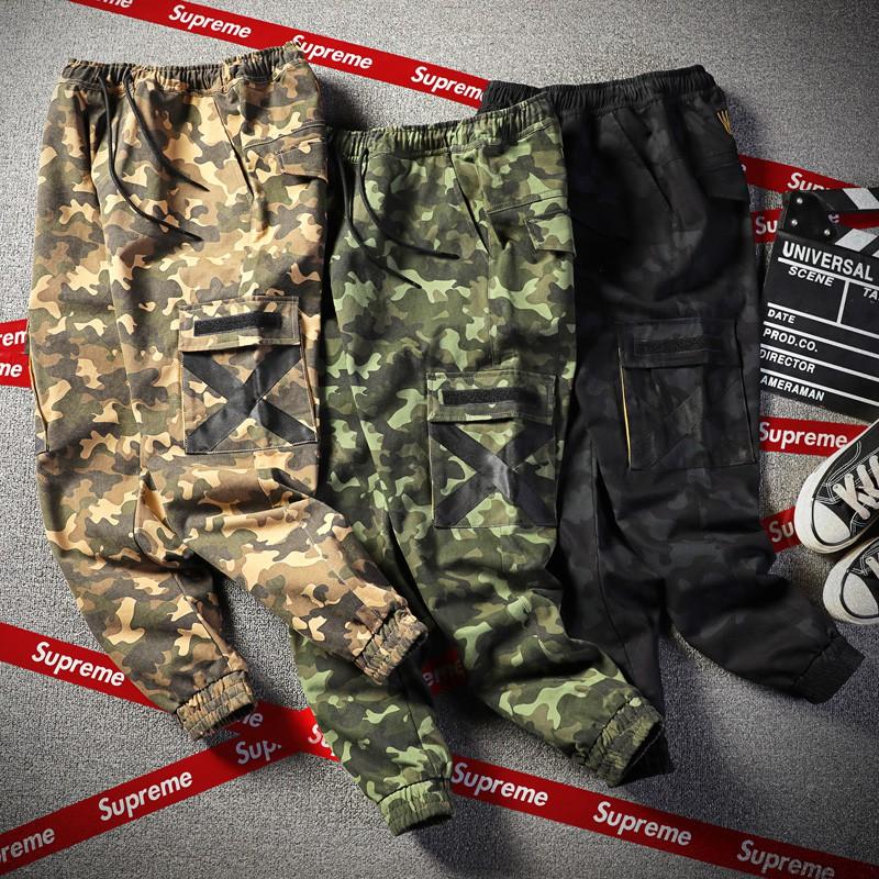 Functional multi-pocket overalls men's casual beam pants camouflage pants Senma