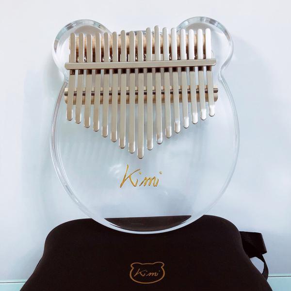 Kimi Kalimba Acrylic Thumb Piano 17 Keys with Tuner Hammer Gig Bag