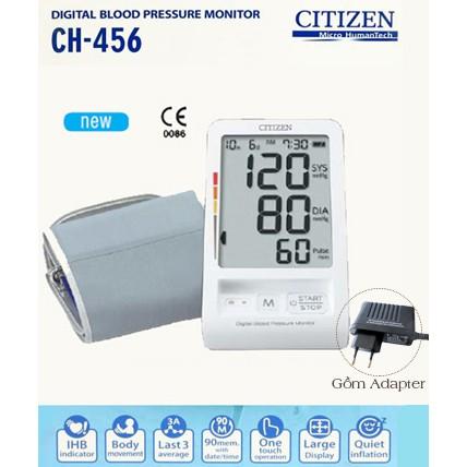 Máy đo huyết áp điện tử bắp tay Citizen CH-456 + chuyển nguồn - 3465493 , 1248479375 , 322_1248479375 , 1160000 , May-do-huyet-ap-dien-tu-bap-tay-Citizen-CH-456-chuyen-nguon-322_1248479375 , shopee.vn , Máy đo huyết áp điện tử bắp tay Citizen CH-456 + chuyển nguồn
