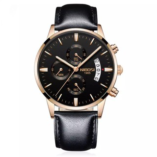 [Tặng vòng tay] Đồng hồ nam NIBOSI chính hãng NI2309 ( Dây da ) thời trang cao cấp