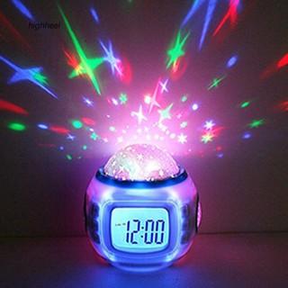 Đồng hồ báo thức kiêm đèn ngủ hình bầu trời sao cho bé
