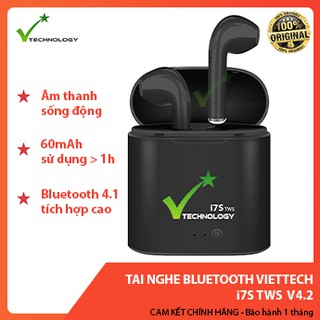 Tai Nghe Bluetooth VietTech i7S TWS Wireless Earbuds iOS/Android V4.2