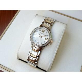 Đồng hồ nữ chính hãng Bulova 98L271 viền đá sang trọng thumbnail