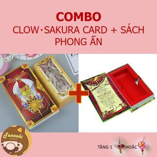 COMBO CLOW・SAKURA CARD (SIZE LỚN) VÀ SÁCH PHONG ẤN