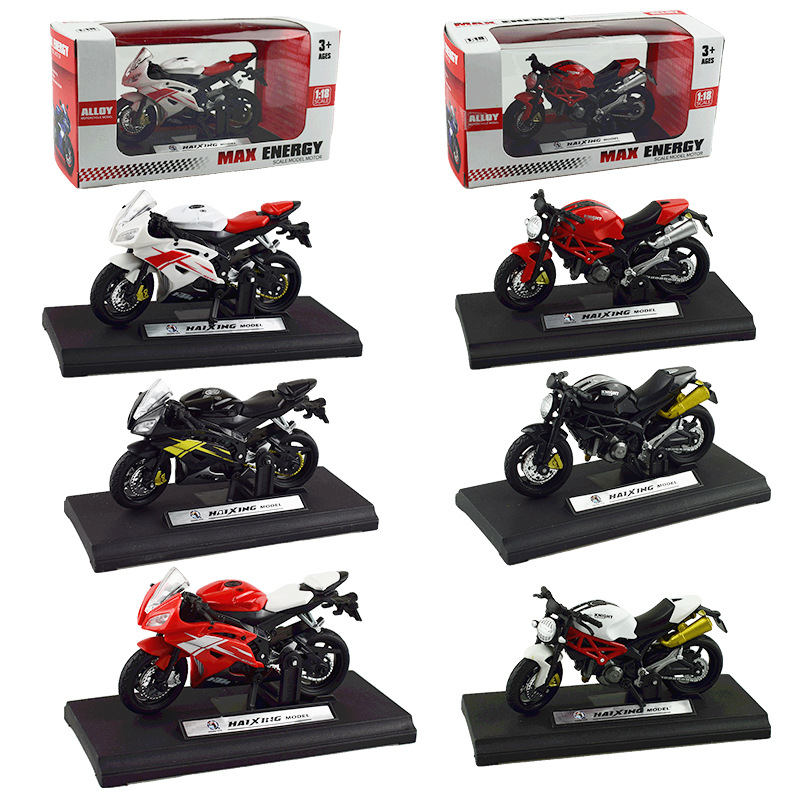 Mô Hình Xe Mô Tô Ducati Yamaha Tỉ Lệ 1 / 18 Dùng Để Trưng Bày