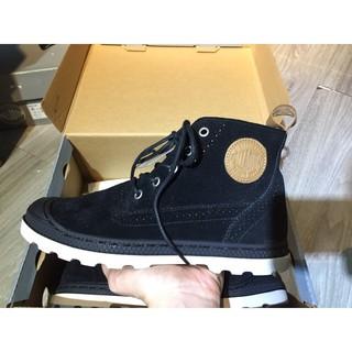 Giày Palladium Nữ da lộn đen lót nâu có ánh kim tuyến thumbnail