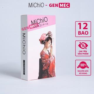Bao cao su Michio Siêu Mỏng, Chống Xuất Tinh Sớm - BCS Michio Hộp 12 cái - GenMec thumbnail