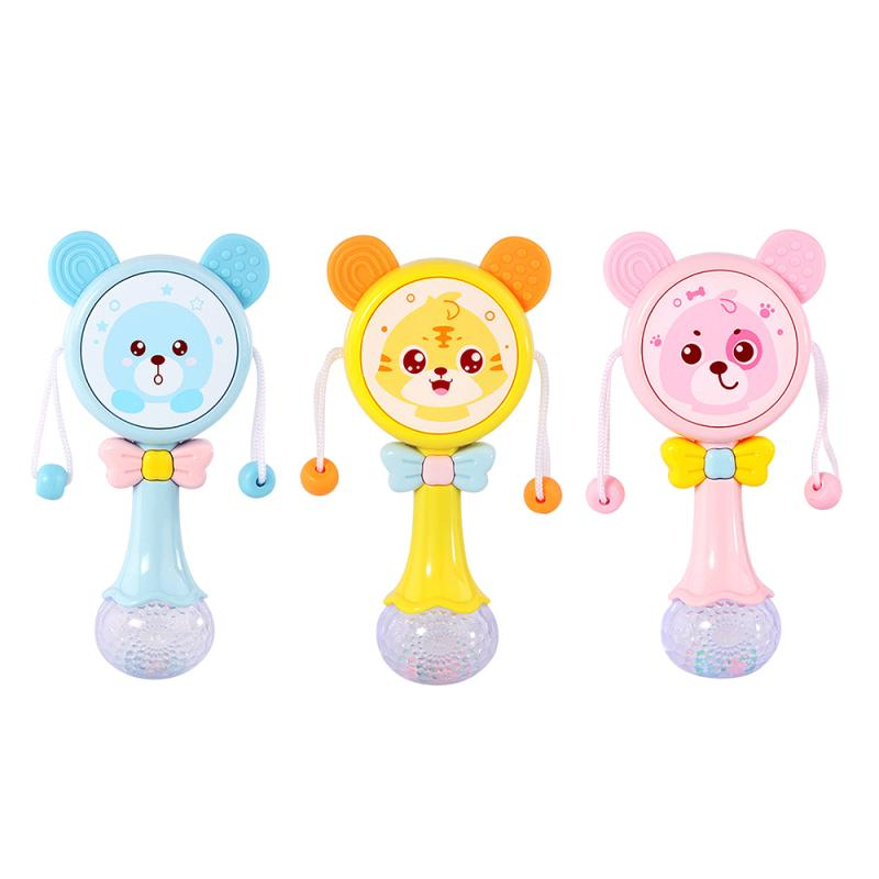 Glowing rattle children's colorful flash toy baby drum baby toy baby drum