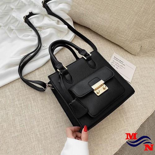 Túi xách thời trang da rơn khóa vuông MN2